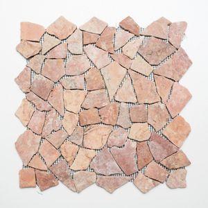 Mosaik Fliese Marmor Naturstein rot Bruch Ciot Rossoverona MOS44-30-140_f