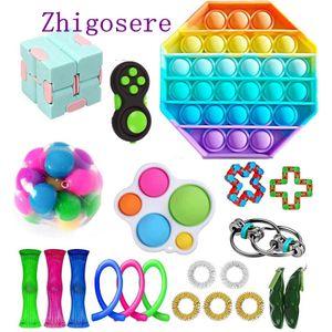 21 Stück / Set Fidget Sensory Toy POP it! Autismus Stressabbau Spielzeug