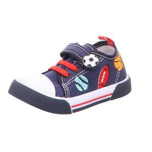 Sneakers Leinen Slipper/Kletthalbschuh