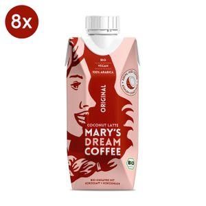 Marys Coffee Dream Eiskaffee Kaffee Ice Vegan Coconut Latte330ml 8er Set