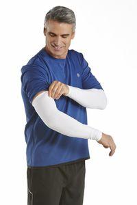 Coolibar - UV-schützende Ärmel für Herren - Navagio - Weiß, L/XL