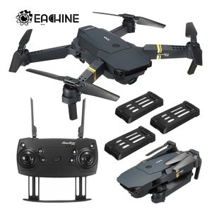 (2.0MP 720P Weitwinkel 3Batterie) Eachine E58 WIFI FPV 2MP Faltbare Selfie Drohne RC Quadcopter RTF für Weihnachten
