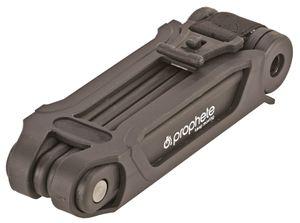 PROPHETE_Faltschloss mit Halter, Länge: 850 mm, Laser-Cut Technologie, 1 Standard Schlüssel + 1 LED-Schlüssel_6134