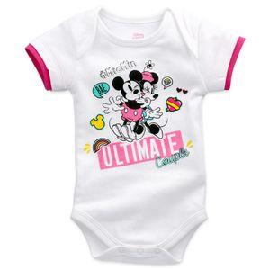 Disney Baby Kurzarm Body Mädchen weiß Mickey & Minnie Mouse 80 (9-12 Monate)