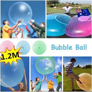 Sunnyme 120cm Große aufblasbare Kinder Adult Bubble Ball außerhalb Stretch Wasser Bubble Ball Sommer spielen Wasserballon Party Spiel Grün