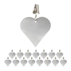 relaxdays 16 x Tischdeckenbeschwerer Tischtuchgewicht Tischtuchbommel Tischbeschwerer Herz