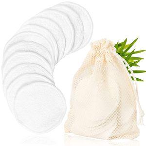 20 Stück Wiederverwendbare Wattepads aus Bambus und Baumwolle | Waschbare Abschminkpads|Umweltfreundlich. Wäschenetz &Spa-Stirnband| Zero Waste für Gesichtsreinigung