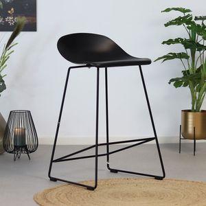 Livin24 Barhocker Ellen skandinavisches Design schwarz 66 cm