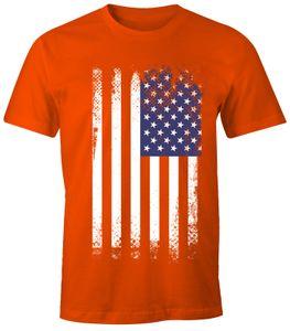 Herren T-Shirt - Amerika Flagge USA - Comfort Fit MoonWorks®  XXL