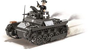 Konstruktionsspielzeug kleine Armee I Ausf. A - Deutscher leichter Panzer Bauklötzen Bausteine COBI 2534 + Mauspad von Juminox Gratis