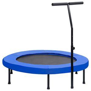 Fitness Trampolin mit Griff und Sicherheitspolster 122 cm