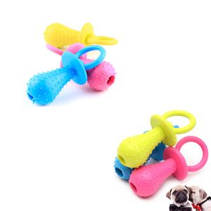 6 Stücke Gummi Schnuller Für Haustier Spielzeug Hund Katze Welpen Kauen Spielzeug Mit Glocke Sound Innerhalb (Zufällige Farbe)