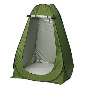145x145x186cm Duschzelt Toilettenzelt Umkleidezelt Dusche Zelt mit Tragetasche Camping Zelt - Grün