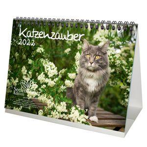 Katzenzauber DIN A5 Tischkalender für 2022 Katzen und Katzenbabys - Seelenzauber