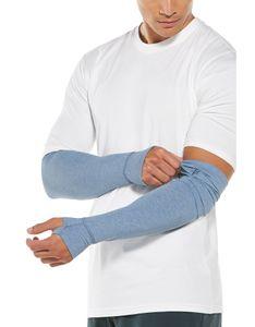 Coolibar - UV-schützende Ärmel für Herren - LumaLeo - Hellblau, XXL