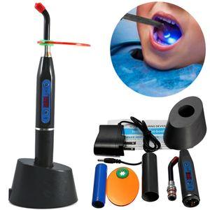 1500MW 5W Dental Curing Light Zahnarzt Polymerisations lampe Whitening Lamp Zahnärztliche EU Stecker Schwarz