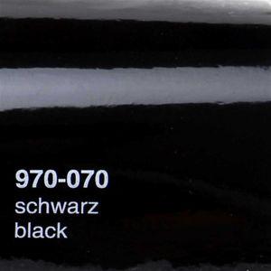 (15,78€/m²) Oracal 970RA Autofolie 070 Schwarz Glanz Folie 152 cm Breite Laufmeterware gegossene Auto Folie selbstklebend