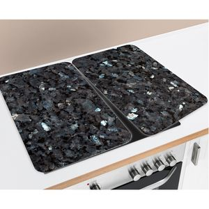 Herdabdeckplatte Universal Blauer Marmor