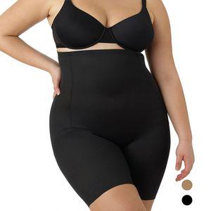 Naomi & Nicole Shapewear Damen - Miederhose Damen (Plus Size 1X-5X) Body Shaper Damen Bauchweg Unterhose Damen - Figurformende Wäsche, Farben:Schwarz (BK), Größe:4X (54)