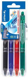 PILOT Tintenroller FRIXION BALL CLICKER 07 Set2Go 4er Etui