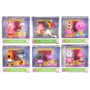 Peppa Wutz Spielfiguren Mix 6 Peppa Pig Figuren Charaktere zum Sammeln Mix