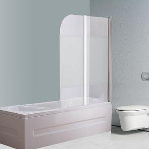 Glas Badewannen Milchglas Duschabtrennung Badewannenfaltwand Satiniert Aufsatz Duschwand Badewannenaufsatz Duschkabine Glas ESG Duschtrennwand