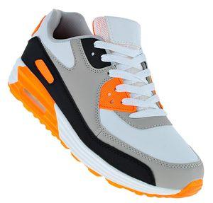 Art 946 Neon Turnschuhe Schuhe Sneaker Sportschuhe Luftpolstersohle Herren, Schuhgröße:43