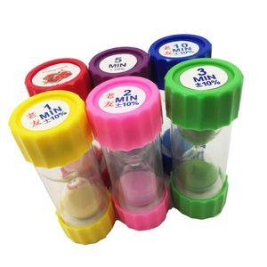 6 x 30 Sekunden +1 Minute + 2 Minuten + 3 Minuten + 5 Minuten +10 Minuten Mini Sanduhren Zeitmesser Küche Timer für Kinder