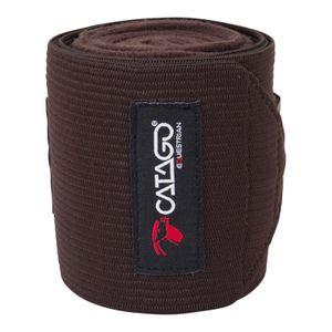 CATAGO Fleecebandagen für Pferde, 4 Stück - braun