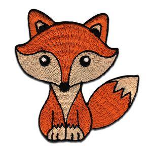 Fuchs Tier - Aufnäher, Bügelbild, Aufbügler, Applikationen, Patches, Flicken, zum aufbügeln, Größe: 8 x 7,5 cm