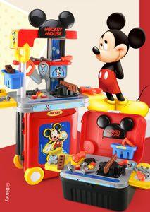 Mickey Werkzeugkasten 3 in 1 Kinder Trolley Koffer Rollenspiel Spielzeug pädagogisches Spielzeug Kinder Geschenk