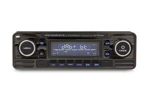Caliber Autoradio mit DAB+ und Bluetooth - Retro-Look - Schwarz verchromt (RMD120DAB-BT/B)