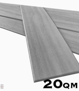 20qm / 120 Stück Deckenplatten Deckenpaneele Holz Deckenverkleidung Holzoptik Holzimitat Polystyrol Grau