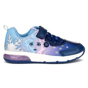 Geox Kinder Halbschuhe Sneaker Leder-/Textilkombination navy 32