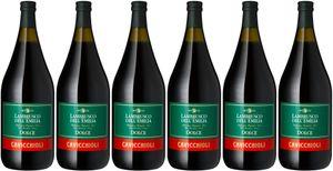 6x Lambrusco del Emilia amabile 1,5 L Magnum  – Cavicchioli, Emilia-Romagna – Weißwein