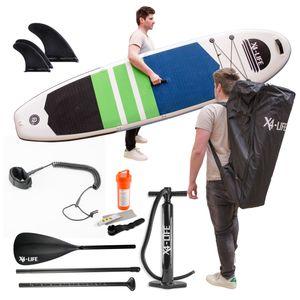 X4-LIFE Stand Up Paddle Board SET 2021 mit Zubehör aufblasbar / SUP bis 150 KG Körpergewicht - Wassersport