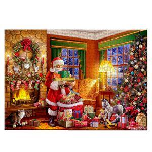 Santa Claus Puzzle 1000 Stueck verdicktes Papier Weihnachtsnacht DIY montieren Weihnachtsdekoration Geschenk