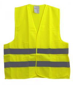 Warnweste/Sicherheitsweste neongelb mit fluoreszierenden Streifen Gr. XL/XXL EN 471, Mengenrabatt:1 Stück