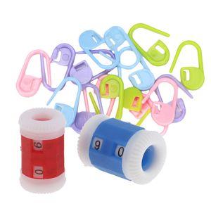 20pcs Locking Stitch Maschenmarkierern Stricken Häkeln Und 2 Größen Stricknadel Reihenzähler
