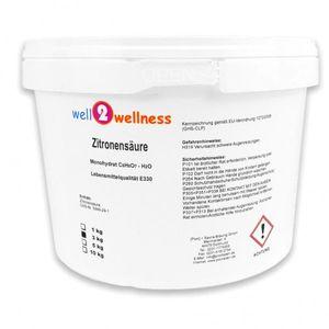 well2wellness Zitronensäure Pulver  3,0 kg