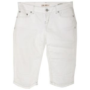 20839 Mac, Chino Short simple,  Damen kurze Jeans Shorts Bermudas, Popeline Stretch, reinweiss, D 40 L 09 Inch 31