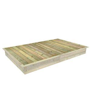 FATMOOSE PowerPit Sandkastendeckel zum PowerPit Sandkasten 195 x 300 cm