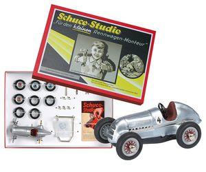Schuco Studio I Silberpfeil Montagekasten, Mercedes Benz, Modell Baukasten, Miniatur, 450101900