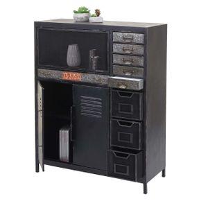 Apothekerkommode MCW-F32, Schubladenschrank Sideboard, Industriedesign 115x89x35cm