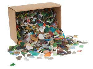 Mosaik, Größe 8-20 mm, Stärke: 2-3 mm, Sortierte Farben, sortierte Farben, 2kg