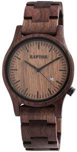 Raptor Uhr Holz Herrenarmbanduhr dunkelbraun RA20243-003