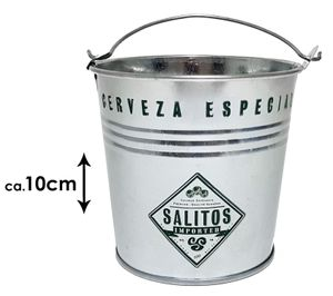 5 x Salitos Cerveza Especial Mini Metall Eimer Eisbox Eiskühler