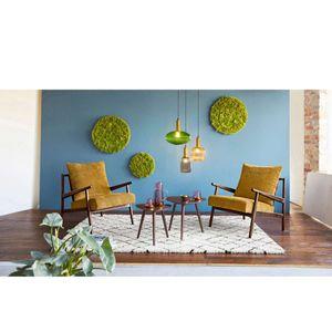 Beistelltisch-Set 2-tlg. Tisch Tischchen Nachttisch Dana Nussbaumoptik