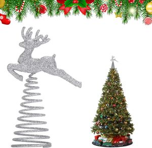 Christbaumspitze,weihnachtsstern Topper,Weihnachtsbaumspitze Baumdeckel,Beleuchtete Funkelnde Stern Weihnachtsbaumspitze Geeignet für Weihnachtsbaumdekoration und Heimdekoration.