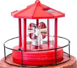Kopf für Solar Leuchtturm, Dreh- und Leuchtfunktion groß rot